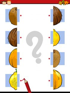 Match the fruit in this fun brain game! #braingames #freeeducationalgames #freegames #freeworksheets