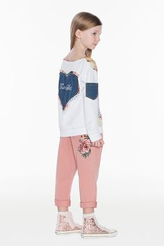 TWINSET Girl :: SS16 :: Clothing ages 6-16 :: Embroidered Trousers :: GS62AH