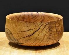 """chriskemler: Saved from the firewood pile. This pile of oak was given to us by friends that moved away. Bowl #3 What Goes Around Comes Around 9.25""""x4.5"""""""