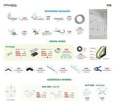 Estantería Colgante - Cristal Doble - Cuadrícula Interna Perfiletto ®| Catálogo Virtual Perfiletto