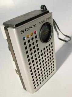 Vintage Mod Sony Radio  Description:  1970's Ultra Mod Transistor Radio.