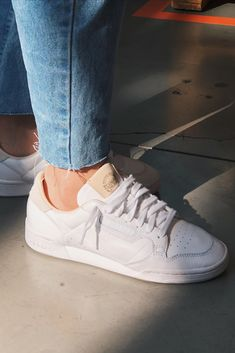 adidas Continental 80 - classic white leather shoes styled by you.