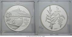 RITTER Brasilien, 5 Real 2015, Olympische Spiele Rio de Janeiro 2016, Ruderer,PP #coins #numismatics