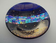 Star+Gazing by Sabine+Snykers: Art+Glass+Bowl available at www.artfulhome.com