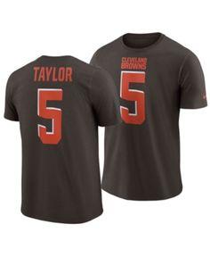 3768d22f63c Men s Tyrod Taylor Cleveland Browns Pride Name and Number Wordmark T-Shirt