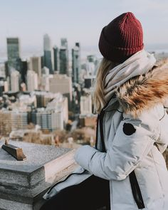 Vue du mont Royal / View from Mount Royal - Montreal Travel, Winter Hats, Instagram, Travel Tourism, Photo And Video, Places, Montreal Canada, Travel