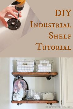 Industrial design and decor is all the trend - here is a tutorial of how to DIY them yourself and save money.