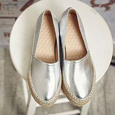 reputable site 66c28 2f2e7 Alpargatas Mujer, Zapatos De Cuero, Zapatos Planos, Calzado Mujer,  Mocasines, Genuino