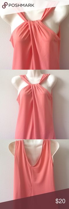 New York & Company Coral Blouse Brand new with tag still attached, never worn. Size XS/S. 95%polyester and 5% spandex -- New York & Company Tops Blouses