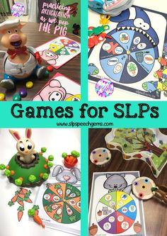 Games are a great way to motivate your students in therapy. Use these games with articulation and Language decks or with game companions.