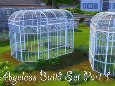 The Sims 4 | NotEgain's Ageless Build Set - Greenhouse Fences | build mode new objects outdoor garden deco