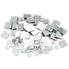 Glue mirror mosaic tiles back toback and put on your Christmas tree before the ornaments for quadruple the amount of fairy lights!