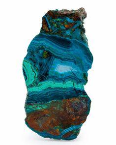 Polished Chrysocolla Slab - Bagdad Copper Mine, Yavapai County, Arizona