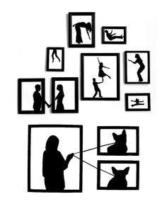"Custom decal ideas from Pinterest - This one is awesome - ""paper silhouettes""…"