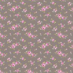 TILDA látka: Mini Rose Grey /50 x 55 cm/ 100% bavlna, srážlivost 5%. Látka o rozměrech 50 x 55 cm. DOVOZ Z UK