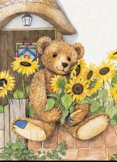 Image Library Designs Original illustrations occasions Christmas greetings cards Sunflower Illustration, Bear Illustration, Christmas Greeting Cards, Christmas Greetings, Teddy Bear Images, Happy Birthday Card Design, Bear Wallpaper, Boyds Bears, Cute Clipart