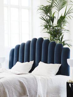 The Diva Headboard from Boton is a perfect match for the Kizu Table Lamp! Art Deco Bedroom, Home Decor Bedroom, Decor Room, Sofa Design, Interior Design, Bedding Inspiration, Home Decor Inspiration, Florence Apartment, Headboard Designs