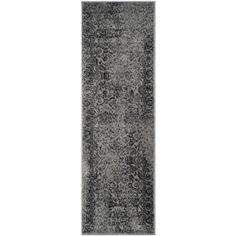 Safavieh Adirondack Grey/Black Rectangular Indoor Machine-Made Runner