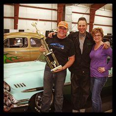 Three of us Hot Rods, Chevy, Captain Hat, Retro, Rustic, Mid Century, Street Rods