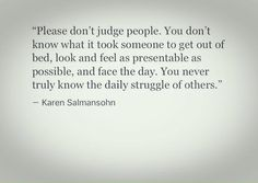 Please don't judge people
