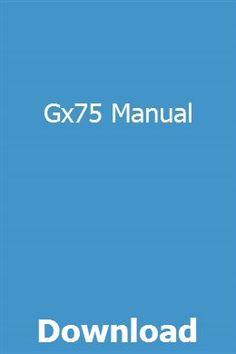 Gx75 Manual pdf download full online