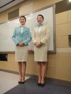 Korean Air Flight Attendant Uniform ~ Cabin Crew Photos