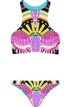 Whether you'll be laying beachside or poolside, here are the best suits to swim in: boldly neon.