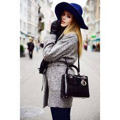 THE BLUE HAT ❤ liked on Polyvore