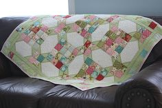"""Katie"" quilt for Quilts for Kids before washing 