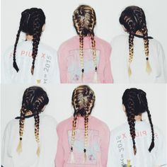Coiffure : Braids on braids. The Coveteur… Messy Hairstyles, Pretty Hairstyles, Good Hair Day, Bad Hair, Hair Dos, Gorgeous Hair, Hair Inspiration, Hair Makeup, Braids