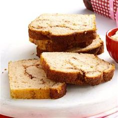 Swirl Cinnamon Bread Recipe -If you like cinnamon, you'll love this quick bread! It's crusty on top, soft and moist inside. Make extra loaves for the holidays and give them to family and friends. —Taste of Home Test Kitchen