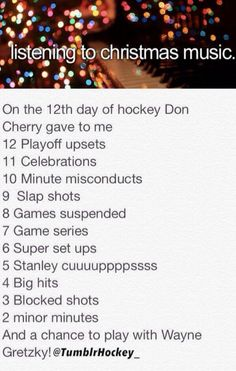 The 12 Days of Hockey...or Christmas :P #Humor