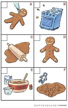 the gingerbread man sequencing printables Sequencing Pictures, Sequencing Cards, Sequencing Activities, Language Activities, Cognitive Activities, Winter Activities, Activities For Kids, Gingerbread Man Activities, Gingerbread Men