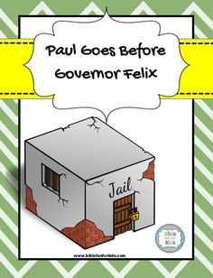 Paul was warned by the prophet Agabus what would happen if he went to Jerusalem. Now he is a prisoner in Caesarea and will go before Gove. Bible Study Crafts, Bible Study For Kids, Bible Lessons For Kids, Sunday School Kids, Sunday School Lessons, Sunday School Crafts, Preschool Bible, Bible Activities, Class Activities