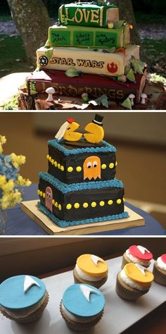 Channel your inner-nerd with these 10 geek-chic groom's cakes.
