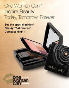 Special-Edition† Beauty That Counts® Mary Kay® Compact Mini   Sleek and infinitely chic,