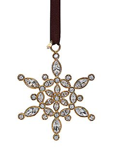 kate spade new york by Lenox Bejeweled Ice Queen Snowflake Ornament