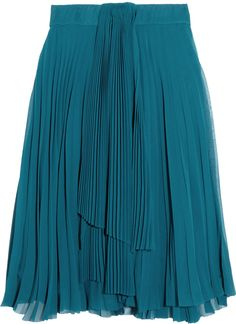 #theoutnet.com            #Skirt                    #Teal #pleated #skirt     Teal pleated skirt                                  http://www.seapai.com/product.aspx?PID=645708