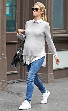 Maternity chic! The socialite looks happy and healthy as she takes a stroll in New York City.