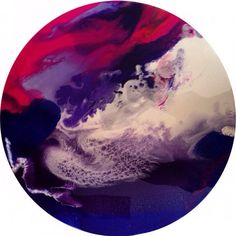Round 60cm Resin Artwork by HelloSundayDesigns on Etsy