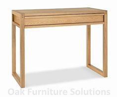 Studio desk, oak (102cm wide), £207