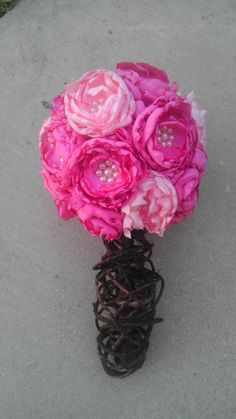 DIY Fabric Bouquet Take Two :  wedding bouquet diy flowers pink Bouquet3
