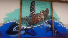 SUQUAMISH — Artist Toma Villa's 30-foot by 30-foot mural in the gym of Chief Kitsap Academy