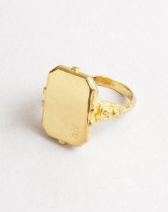 0e3bc9a0e064 Date Letter   Deco Ring Gold - Macha nyc - unique custom jewelry  mens  wedding and engagement rings, Brooklyn NYC