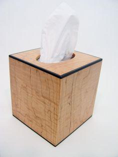 Plain Wooden Tissue Box Cover Wood Holder Car Home Paper Storage Trendy Pretty
