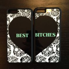 Best Bitches Cell Phone Cases Better than the pull apart best friend necklaces, now you can have matching cell phone cases! Surprise your BFF with this great gift! Fits iPhone 6/6s, NOT 6 Plus. LuckyMia Accessories Phone Cases