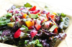 Strawberry Mango Salad #raw #recipe #vegan