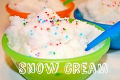 How to make Snow Cream - a fun activity while studying Winter Wonders!