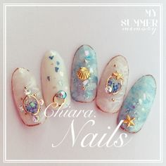 Make an original manicure for Valentine's Day - My Nails Japanese Nail Design, Japanese Nail Art, Sea Nails, Matte Nails, Stiletto Nails, Coffin Nails, Korean Nails, Mermaid Nails, Nail Candy