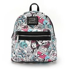 Marvel Comics Print Mini-Backpack - Entertainment Earth ac2e3de717b68